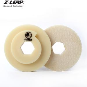 "4/"" Snail Lock Back Holder Plastic Backer Pads Automatic Edge Polishing Machine"
