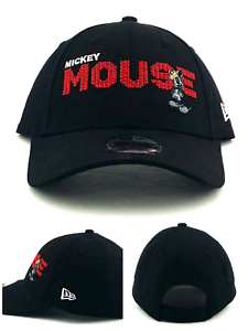 6032f54a Mickey Mouse Walt Disney New Era 9Forty Youth Boys Kids Black Red ...