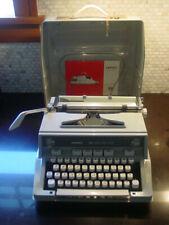 Vintage Hermes 3000 Mechanical Typewriter Seafoam Green Works Nice