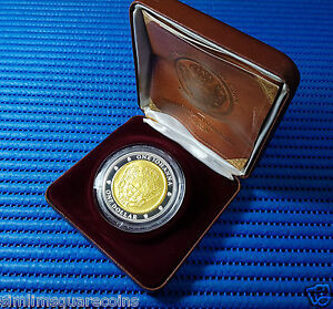 2007-Australia-1-Selectively-Gold-Plated-Silver-Coin-1732-One-Johanna-Re-print