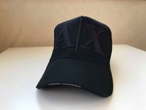 35d610b27 Details about Armani Exchange Cap Black , AX Baseball Cap Black, Black  Baseball Hat uk seller