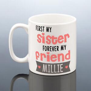 Image Is Loading SISTER MUG FRIEND Personalised Sister Christmas Gift Sisters
