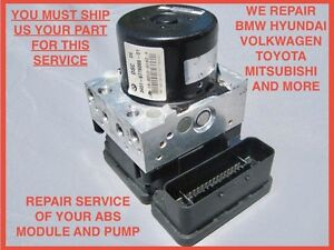 06-10 BMW M5 M6 ANTI LOCK BRAKE ABS PUMP DSC MODULE REPAIR ATE REBUILD SERVICE