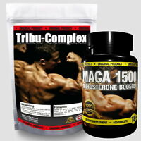 Testosteron Booster Duo Pack Tribulus Terrestris + Zink + Maca - 190 Tabletten
