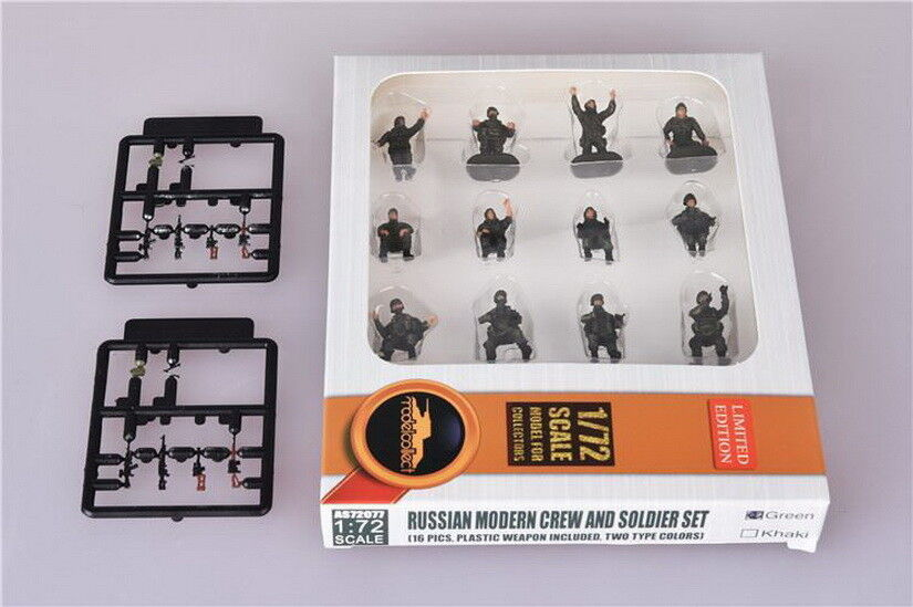 1 72 Russian Modern Crew & Soldier Set (16pcs w Plastic Weapon)