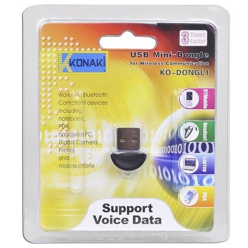 Konaki KO-DONGL1 Bluetooth v2.0 USB 2.0 Mini Adapter