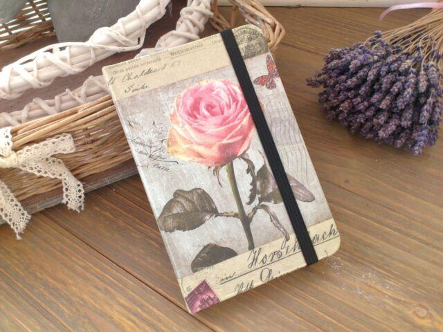 """CLAYRE & EEF nostalgisches NOTIZBUCH """"VINTAGE ROSE"""" Tagebuch Shabby Landhaus"""