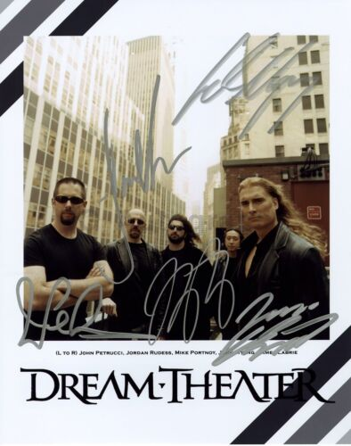 Dream Theater - American Rock Band - Authentic Autographed 8x10 Photograph