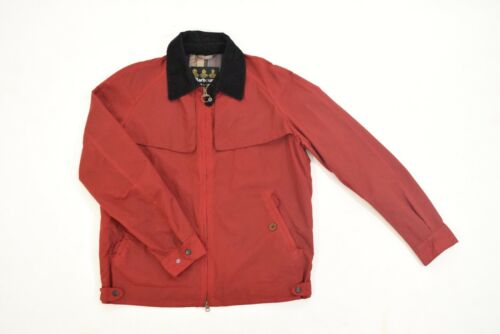 Barbour Jacket L Brick Red Cotton Twill Corduroy C