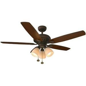 Rockport 52 In Led Oil Rubbed Bronze Ceiling Fan