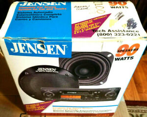 NEW-Jensen-CS2510-Shafted-AM-FM-Tape-Old-School-2-Shaft-Classic-Car-Stereo-Spkr