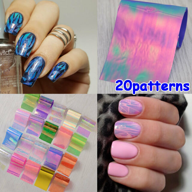 Starry Sky Foils Nail Art 20pcs/set Transfer Sticker Paper Glitter ...