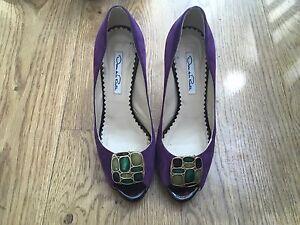 gioiello La 7 Shoes Suede Peep Renta 4 Us 37 Taglia De Oscar Pumps Uk Platform toe qfI5wZf