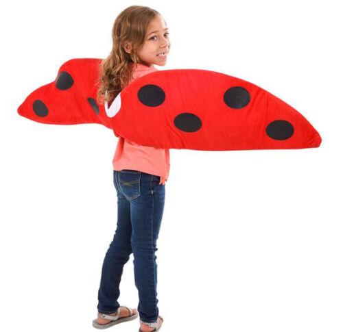Ladybug Lady bug Plush Red Black Fabric Wings Child NIP