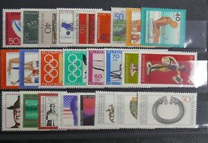 TIMBRES-D-039-ALLEMAGNE-RFA-1976-YVERT-N-724-a-761-SANS-CHARNIERE-ANNEE-COMPLET