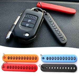 Car-Anti-Lost-Phone-Number-Plate-Key-Chain-Pendant-Phone-Number-Card-Key-Ring