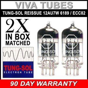BRANDNEU-Tung-Sol-Neuauflage-12AU7-6189-ECC82-Gain-matched-pair-2-Vakuumroehren