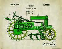 John Deere Tractor Patent Poster Art Print Vintage Toys Charles Freitag Pat326