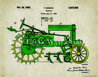 John Deere Tractor Patent Poster Art Print Vintage Toys Charles Freitag Pat326