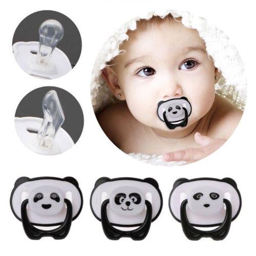 Panda Newborn Baby Orthodontic Soother Dummy Pacifier Infant Nipple Decor #UK