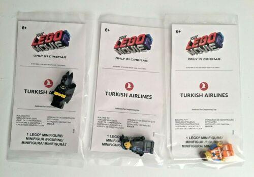 Lego The Lego Movie 2 Batman Wyldstyle Lucy Emmet Turkish Airlines RARE Lego Toy