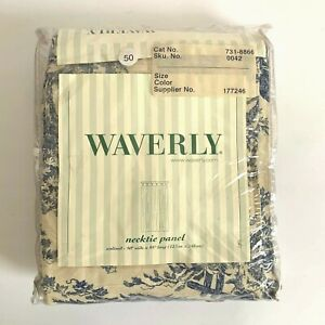 """Waverly necktie panel Country Life-Wedgewood tab top unlined size 50"""" W x 95"""" L"""
