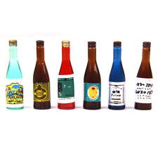 6pcs//set Kitchen Drink Wine Juice Bottles 1:12 Dollhouse Miniature FurniturejbG