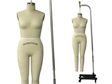 Professional Pro Female Working Dress Form Mannequin Full Size 10 Arm