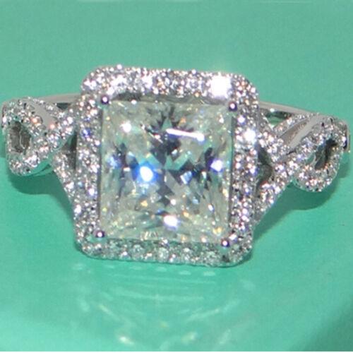 Handmade Sapphire Pierre de Naissance Argent 925 Rempli De Mariage Bague de mariage Taille 6-10