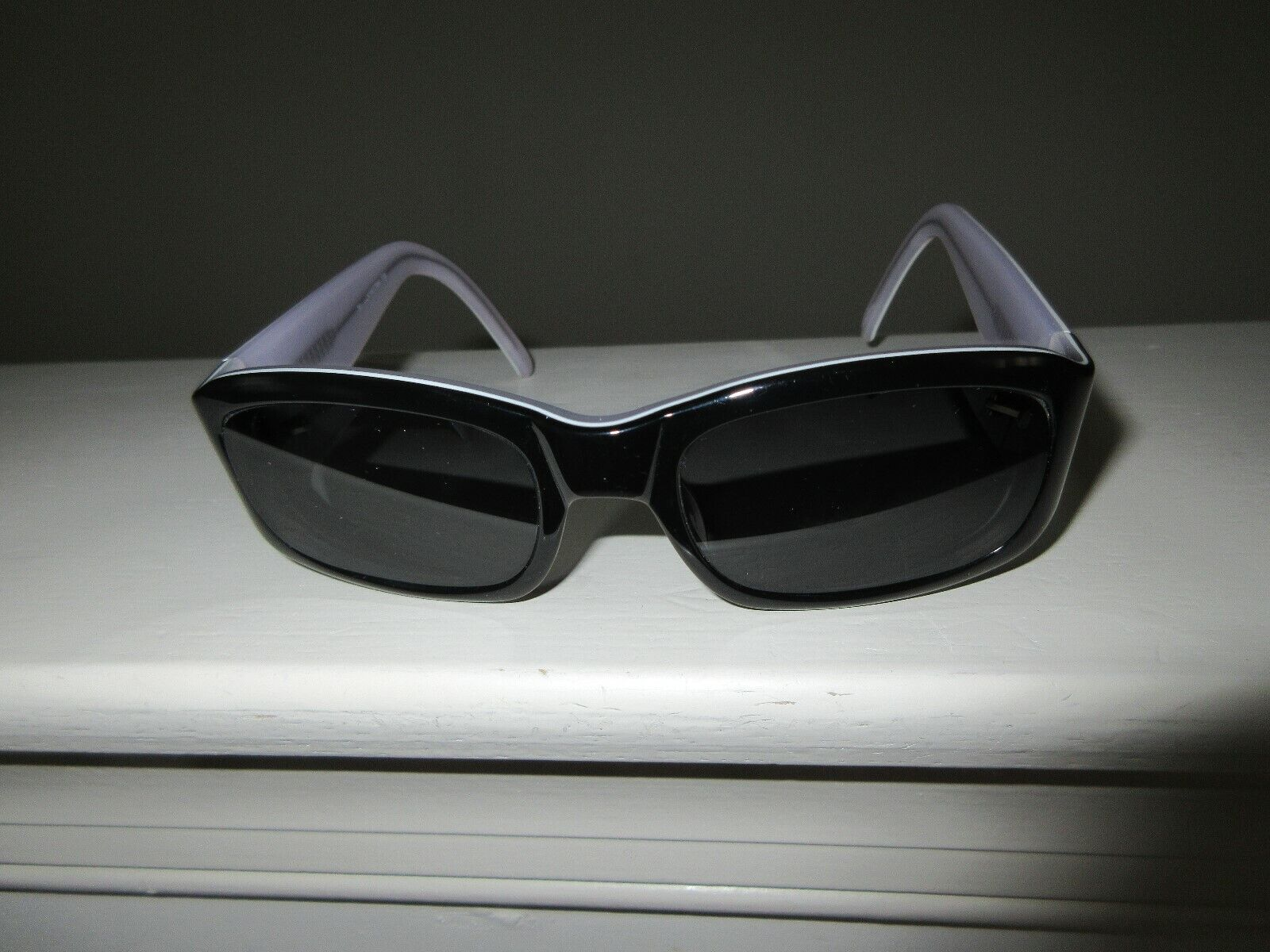 Eyeglass Frame , Ladies , Black / White Designer Eyegla