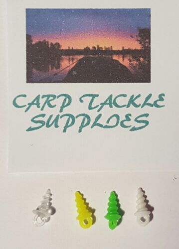 20-x-Bait-Screws-Colours-Clear-Green-Yellow-White-Carp-Fishing