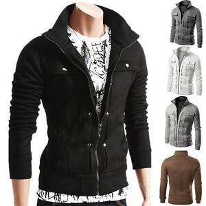 Men-039-s-Jacket-Outwear-Sweater-Winter-Slim-Hoodie-Warm-Sweatshirt-Coat-Zipper-Tops