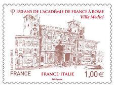 2016 Francia 350° Accademia di Francia a Roma Congiunta Gemella Italia  MNH**