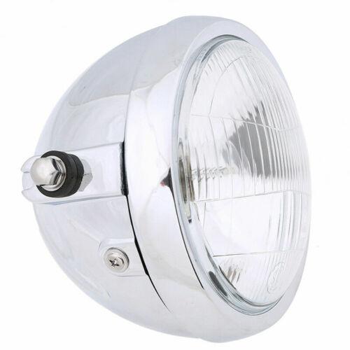 "Set 6"" Round Metal Retro Headlight Headlamp for Cruiser Chopper  Motorbike"