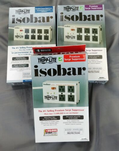 TRIPP-LITE ISOBAR 4// 6// 8 NEW Outlet Premium Surge Suppressor
