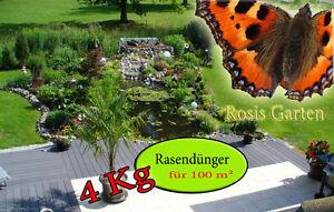 4 Kg (4,73€/Kg)  Dünger Volldünger Rasendünger Startdünger oder zur Nachsaat