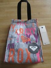 NEW ROXY SCHOOL STUDENT BAG LUNCH COOLER Insulated Grey Pink