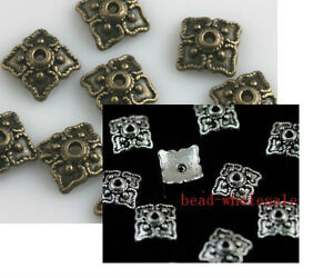 Wholesale-100-pcs-Tibetan-Silver-Bronze-Bead-Caps-Jewelry-Making-Findings-8mm