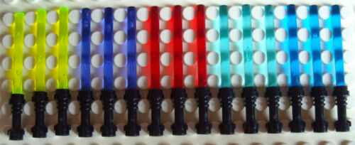 Black Handle IN 5 Colours For Star Wars Mini Figurines 15 Lego Light Saber