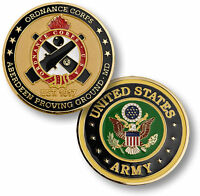 Aberdeen Proving Ground Challenge Coin Us Army Ordnance Corps Maryland Md Eod