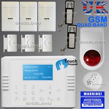 WIRELESS LCD SECURITY DUAL GSM AUTODIAL HOME HOUSE OFFICE BURGLAR INTRUDER ALARM