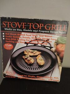 Details About Royal Chef Stove Top Non Stick Grill Work On Gas Electric And Propane Range