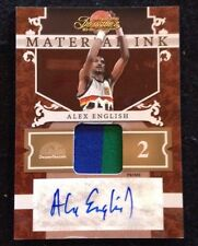 10-11 Timeless Treasures ALEX ENGLISH  Material Ink PRIME Auto PATCH 12/25 Ssp