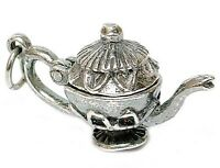 Vintage Silver Opening Teapot Charm