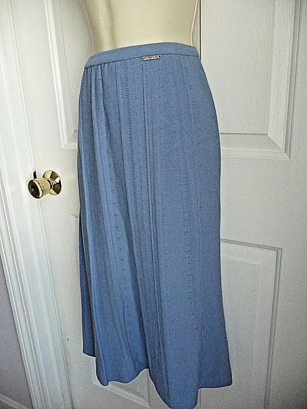 GEIGER Australia Skirt NWT 42 L  Periwinkle bluee Knit A-Line Viscose WoW