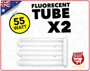 2x 55 Watt Replacement Fluorescent Tube Light Globe Worklight CoolTouch FT55