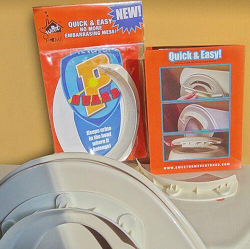 P Guard Urin Pee Deflektor Splash Schutz für Toilette Schüsseln Brandneu