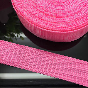 New-5-Yards-Length-3-4-20mm-Width-Pink-Strap-Nylon-Webbing-Strapping
