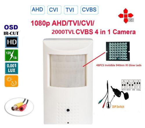 1080p 2.4MP HD-CVI//TVI//AHD//CCTV Hidden Motion Detector IR Camera BNC