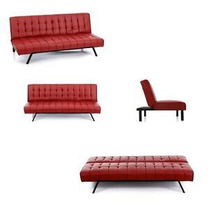 Divano-casa-3-posti-in-finta-pelle-rosso-trasforma-letto-struttura-legno-studio